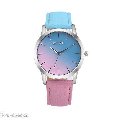 Mode femmes montre-bracele en cuir quartz analogique Business Watch élégant