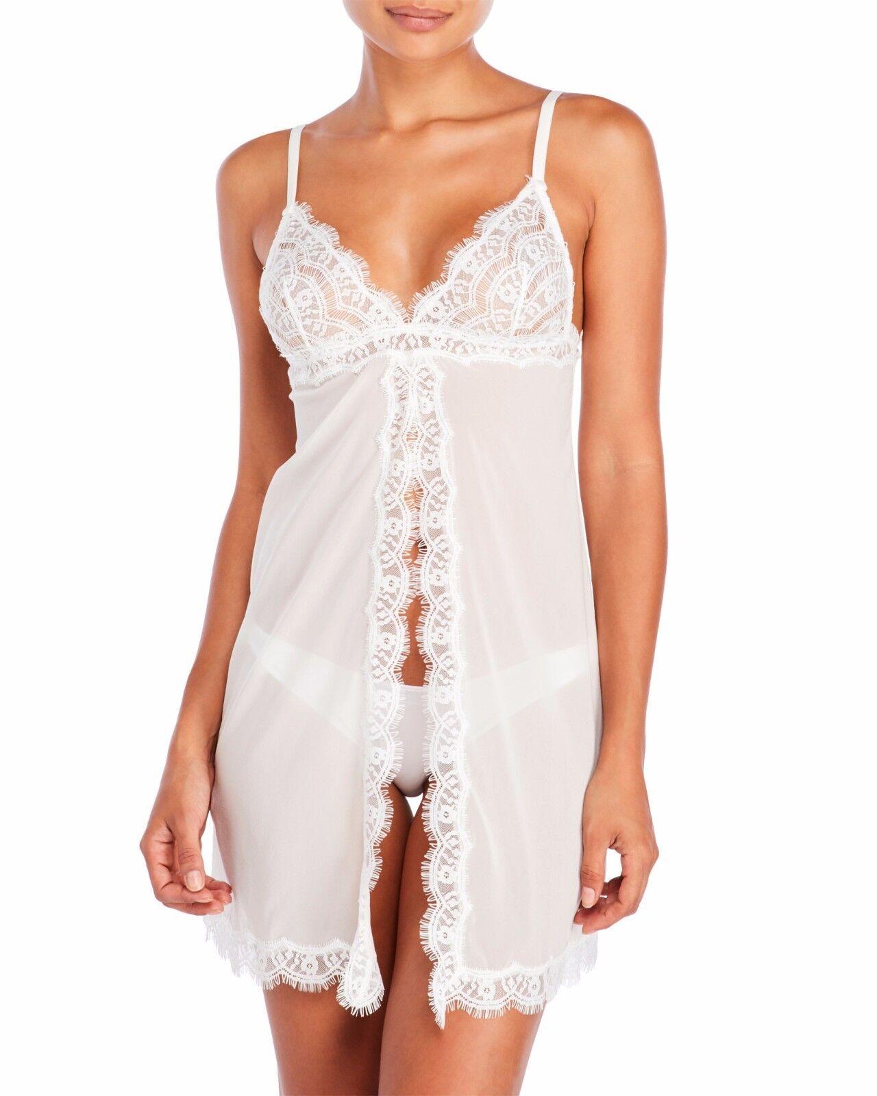 New MIMI HOLLIDAY L bridal white Silk gown Damaris flyaway babydoll dream girl
