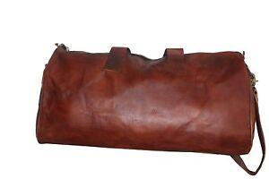 Men-039-s-Genuine-Leather-Large-20-034-Vintage-Duffle-Travel-Gym-Weekend-Overnight-Bag