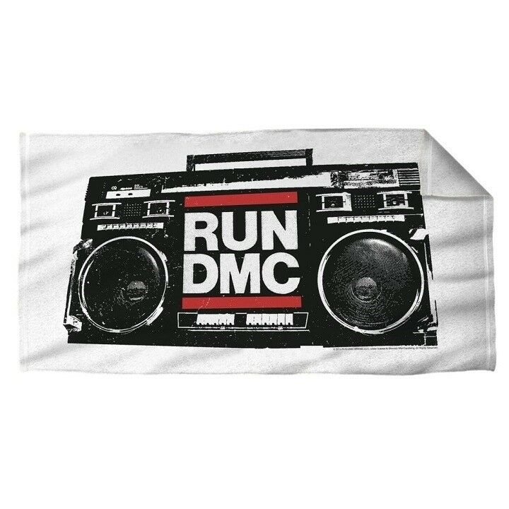 New Run DMC Beach Bath Pool Gift Towel Rap Hip Hop Boombox Jam Master Jay Rapper