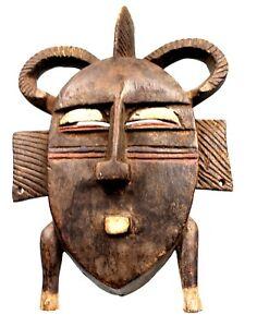 Art-Africain-Ancien-Masque-de-Portage-Koulango-Sculpture-Archaique-26-Cms
