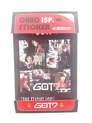 GOT7 Photo Card Sticker Set 15 Pcs KPOP JB Mark Junior Jackson YoungJae BamBam