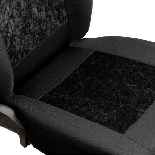 Negro gamuza fundas para asientos para Volkswagen VW eos asiento del coche delante de referencia