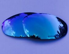 ENGRAVED POLARIZED ICE BLUE CUSTOM MIRRORED REPLACEMENT OAKLEY JULIET LENSES