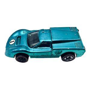 Vintage 1967 Mattel Hot Wheels Redline Meridian Blue Redline Ford J Race Car