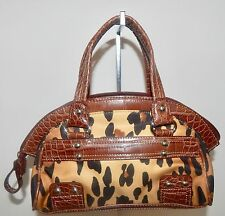 Kathy Van Zeeland Leopard Design Hobo With Studs excellent