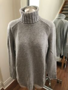 GAP-100-Cashmere-Grey-Turtleneck-Sweater-Size-S-Reatail-250