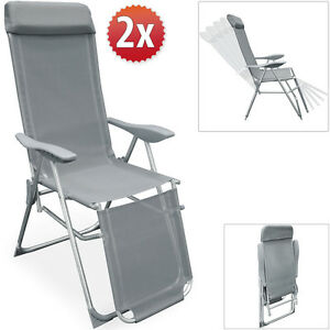 Image is loading Garden-Recliner-Chair -Aluminium-Folding-Sun-Lounger-C&ing-  sc 1 st  eBay & Garden Recliner Chair Aluminium Folding Sun Lounger Camping ... islam-shia.org