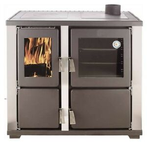 Slow-combustion-wood-heater-stove-with-Oven-Pizza-oven