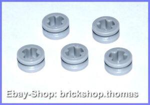 Lego-Technic-5-x-Stopper-1-2-Technik-4265c-Bush-Light-Bluish-Gray-NEU-NEW
