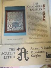 Scarlet Letter Sampler Kit The John Murray Sampler with floss and linen