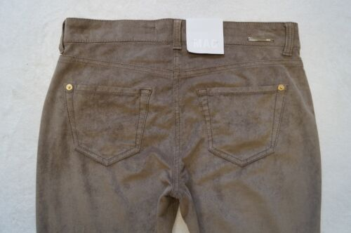 MAC  Carrie Pipe  Jeans Hose Gr.36-46 L30 Velourlederlook 2 Farben  NEU