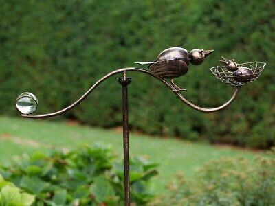 Aufrichtig Gartenstecker Windspiel Gartendeko Metall Pflanzenstecker Vogel