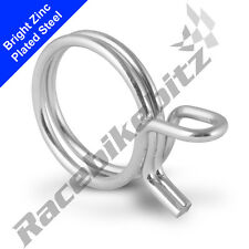 10x Double Wire Band Clamp Spring Hose Petrol Fuel Pipe Clip Size 7> 7.5mm