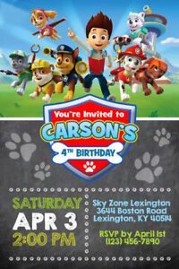 photo about Printable Paw Patrol Invitations named Data around Paw Patrol Invites - Custom-made - Birthday Occasion - Transported or Printable