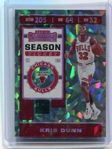 2019-20 CONTENDERS BASKETBALL KRIS DUNN CRACKED ICE TICKET SP 18/25
