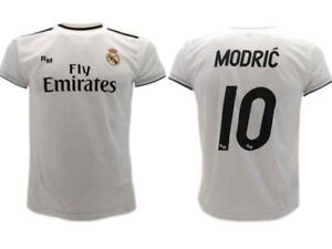 Maglia-Modric-Real-Madrid-Ufficiale-2018-2019-Luka-10-Home-Bianca-Adulto-Bambino