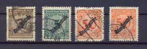 DR-Dienst-99-II-100-II-103-II-russige-Aufdrucke-gestempelt-geprueft-vs12