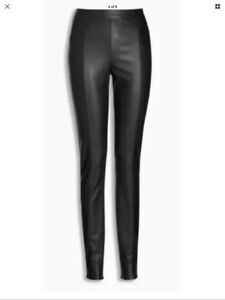 wide selection discount shop price reduced Details about NEXT SIZE 10 TALL Black Faux Leather Look Leggings TROUSERS  LAST ONE BNWT