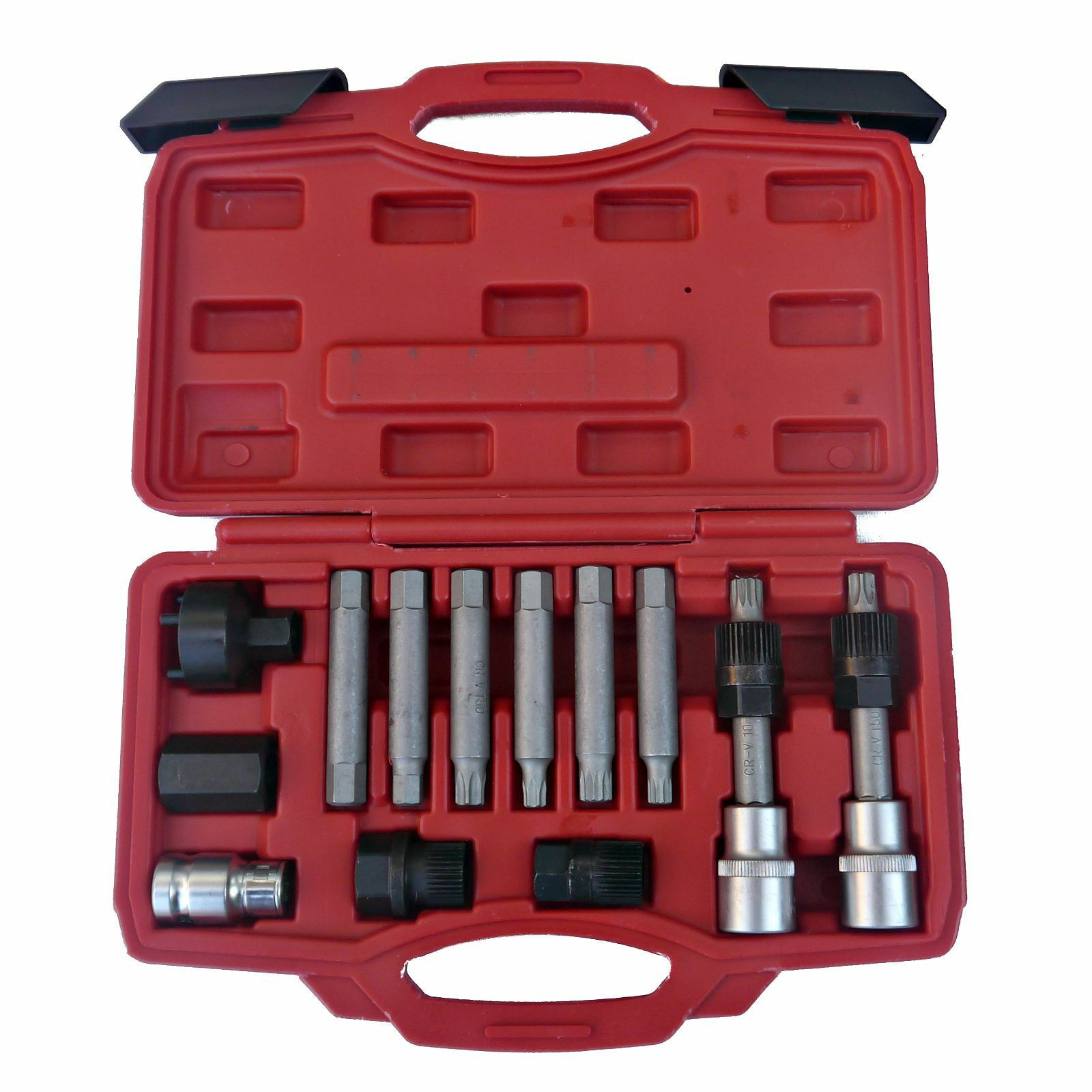 13pc alternator bit set 1 2 hex torx spline bosch pulley. Black Bedroom Furniture Sets. Home Design Ideas