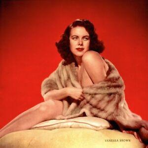 Pinup-Lithograph-Vanessa-Brown-1953-Engstead-Cheesecake-Promo-Photo-Original-VTG