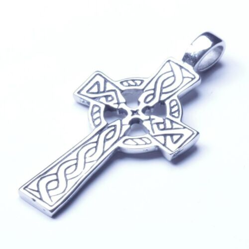 Men/'s Silver Stainless Steel Cross Pendant With Necklace Sp47 USA Seller