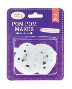 4PCS Pom pom Maker Fluff Ball Weaver Knitting Needle DIY Tool Set Bobble Craft