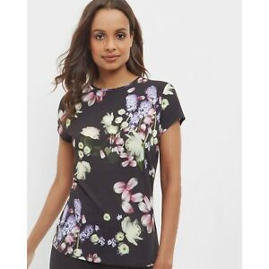 Ted-Baker-London-Women-s-Size-Small-Kensington-Floral-Print-Knit-Jersey-Top