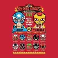 Avengers Captain America Iron Man Spiderman Panther Lucha Libre Men T-shirt M-2x