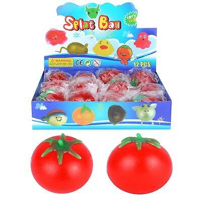 Splat Tomate Caoutchouc Squeeze Stress Soulager Balle Jouet Filles Garçons Great Fun Toy