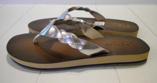 6.5 or 7 Details about  /Sperry Sandals//Flip Flops Womens//Girls Sand Wharf Platinum Sz 6