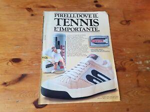size 40 96451 1f72d Dettagli su Advertising Italian Pubblicità * TENNIS * PIRELLI SCARPE UOMO  (1982)
