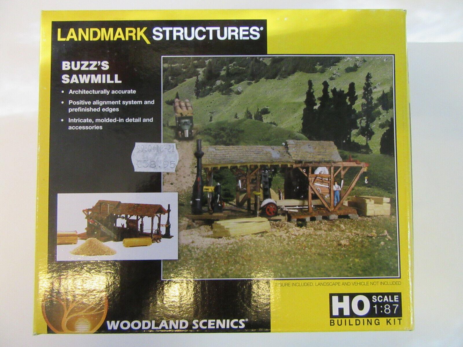 WOODLAND USA 5195 segheria Buzz's Sawmill a vapore 1:87 KIT