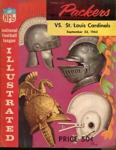 1962-Green-Bay-v-St-Louis-Cardinals-Program-9-23-Packers-Champs-Ex-MT-43665