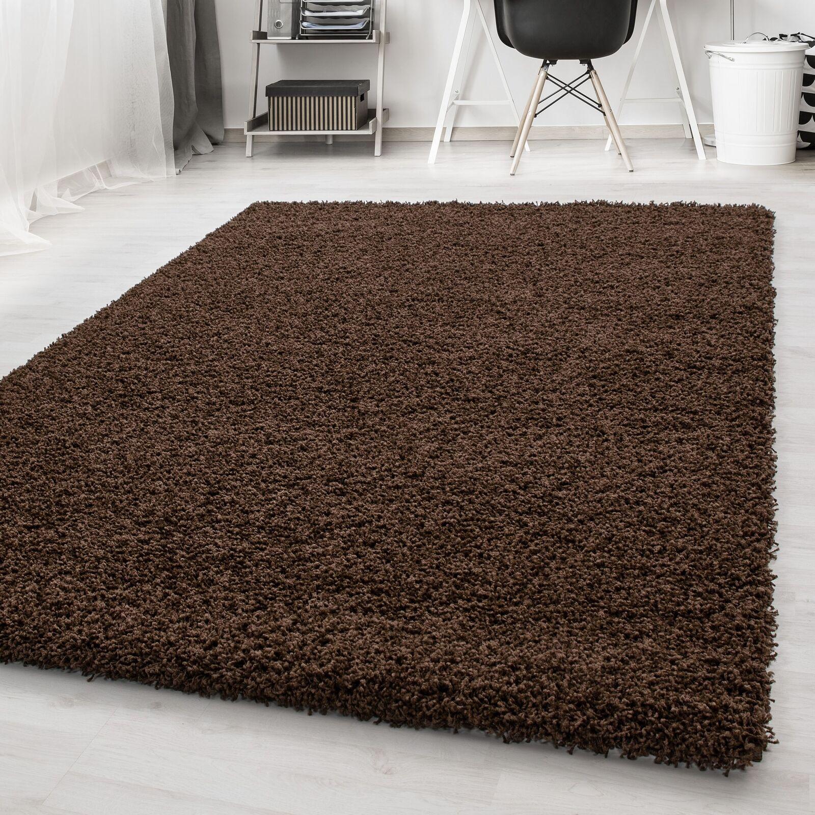 Tappeto ad alta pila Shaggy tappeto lungo pila facile cura Unicolourosso Carpet Br