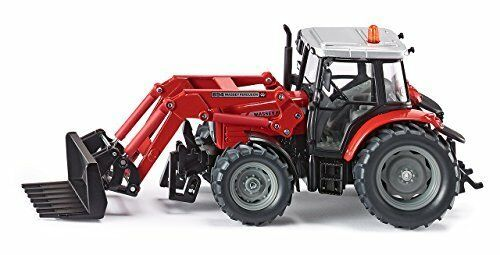1 32 Massey Ferguson Tractor W  Loader - Die -Cast Fordon - Siku 3653
