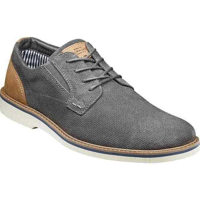 Nunn Bush Men's Barklay Plain Toe Oxford Grey Casual shoes 84792-020