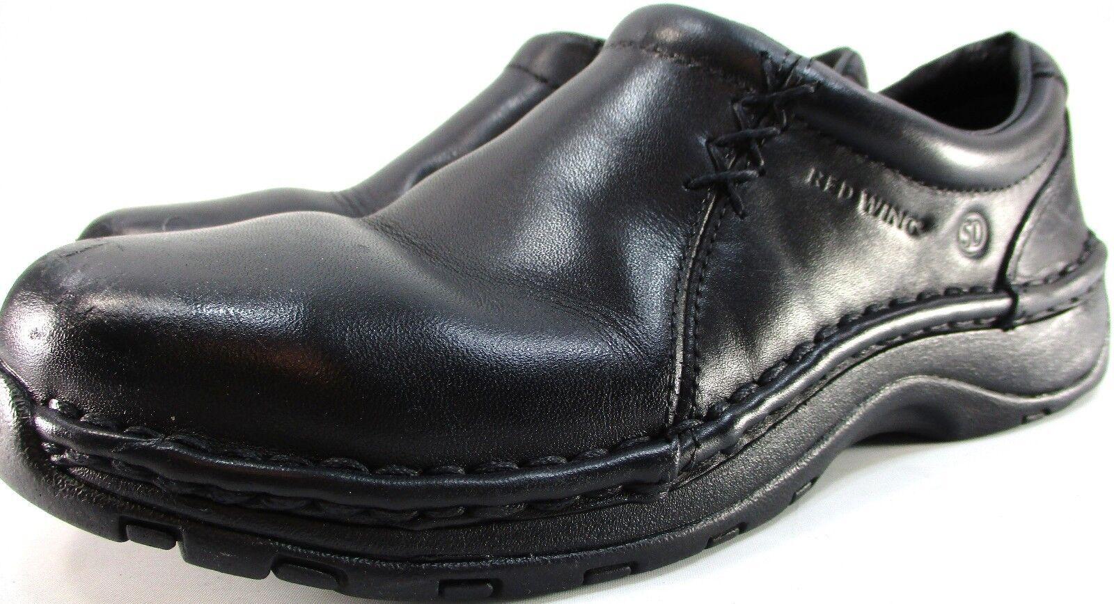 Rouge Wing Femmes Steel Toe Chaussures de sécurité Taille 7 Euro 37.5 noir résistant à l'huile