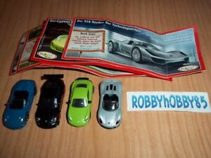 PORSCHE COMPLETE SET OF 4 WITH ALL PAPERS (TR040 - TR043) KINDER SURPRISE 2012