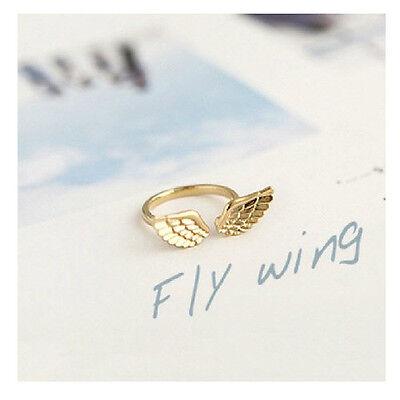 Damen Ring Damenring Finger Ring Fingerring Flügel Muster Gold & Silber