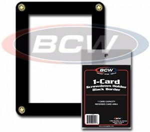 BCW-Black-Border-Screwdown-Single-Card-Standard-Trading-Card-Holder-Qty-1