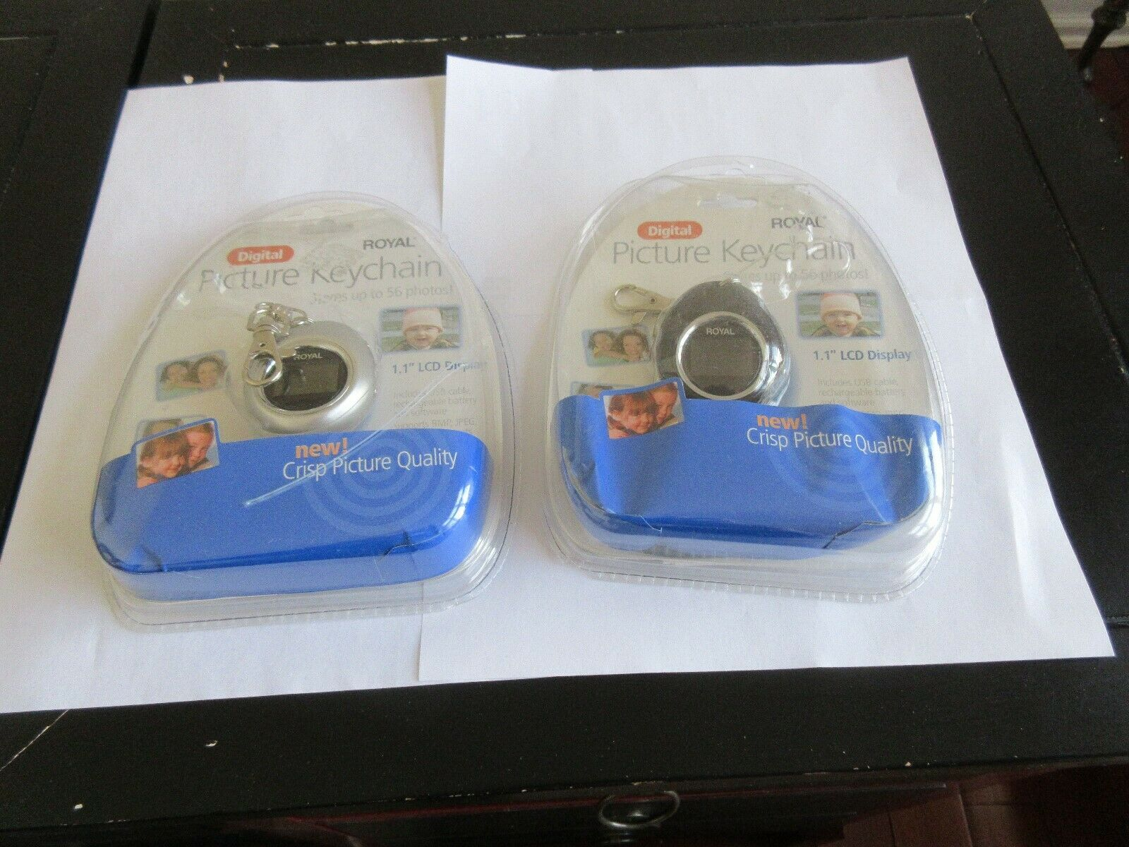 Royal , Digital Picture Keychain , Lot of 2 , PF110