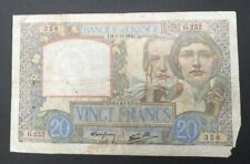 FRANCE  20 FRANCS SCIENCE ET TRAVAIL de 1939 ETAT : B  Réf. G 252