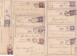 1871-94-10-SCOTTISH-DUPLEX-POSTMARKS-ON-POSTAL-STATIONERY-CARDS-MOSTLY-BANKING