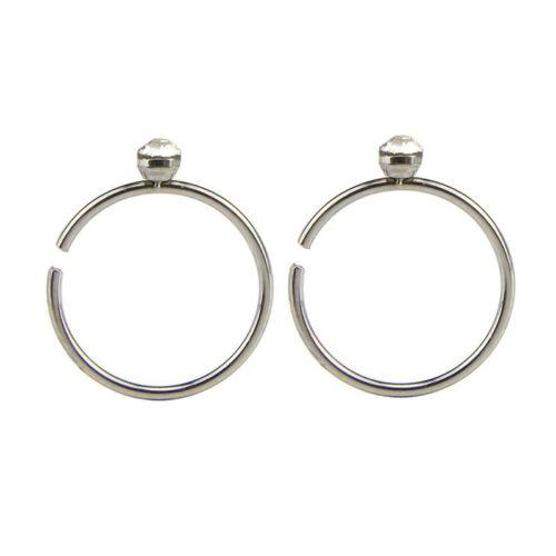 40PCS Bulk Multi Stainless Steel Crystal Nose Studs Ring Hoop Body Piercing  HB