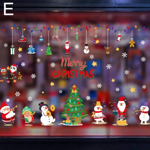 1×Christmas Santa Wall Window Sticker Removable PVC Decal Xmas Home Party Decor