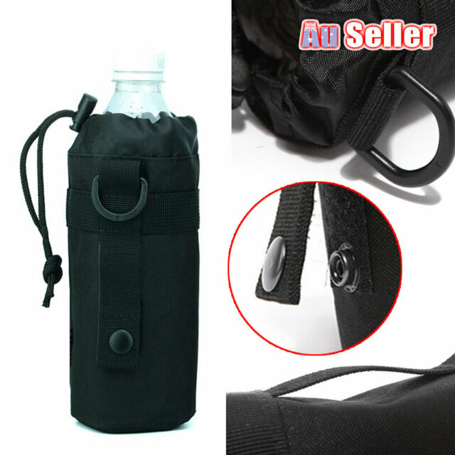 Outdoor Water Bottle Amry Molle Holder Pouch Tactical Bag Drink Military Kettle