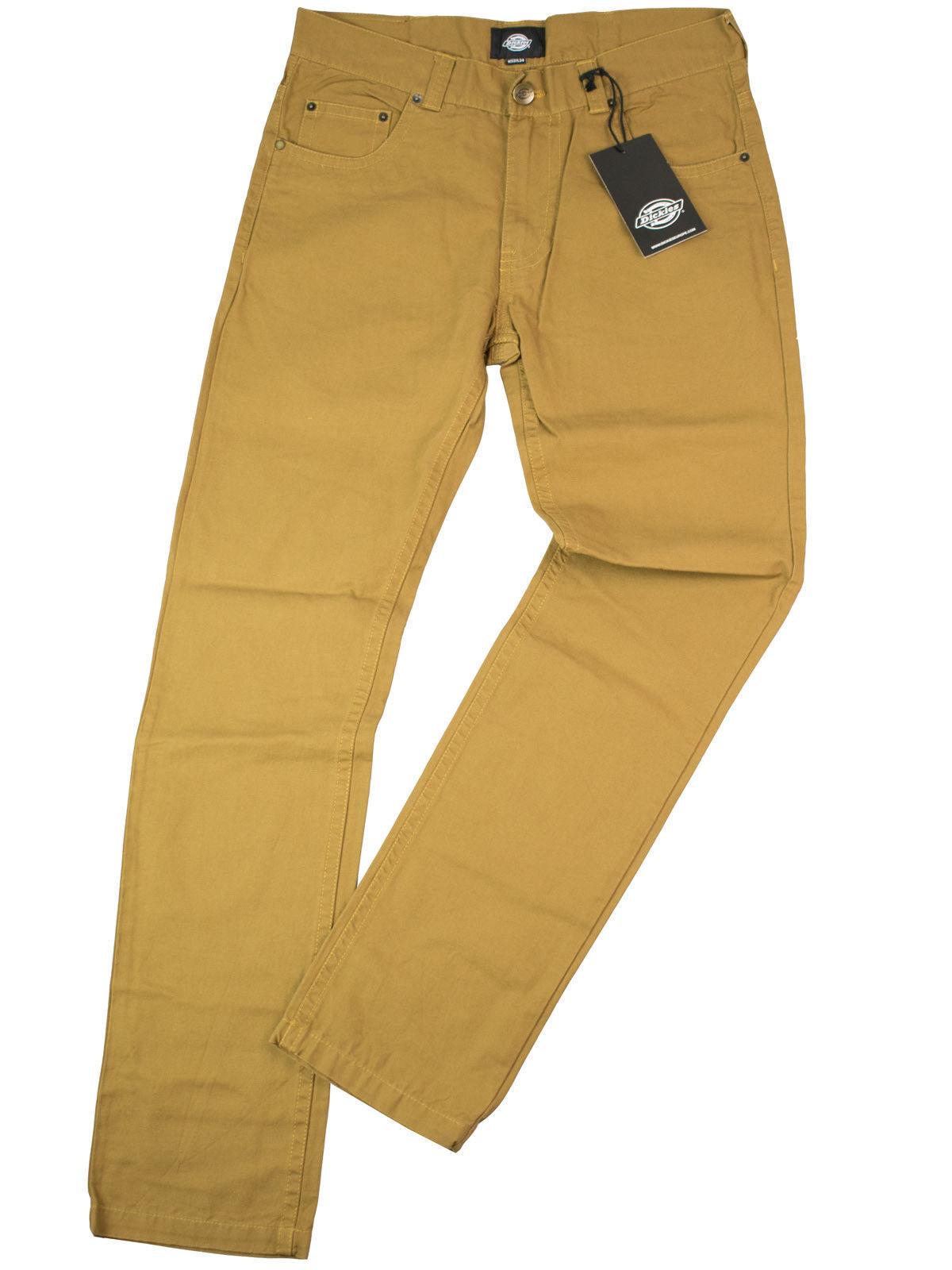 Dickies Pantaloni Alamo 5 Pocket CARGO JEANS JEANS JEANS OCRA MarroneeE ROCKABILLY 5049 b3989f
