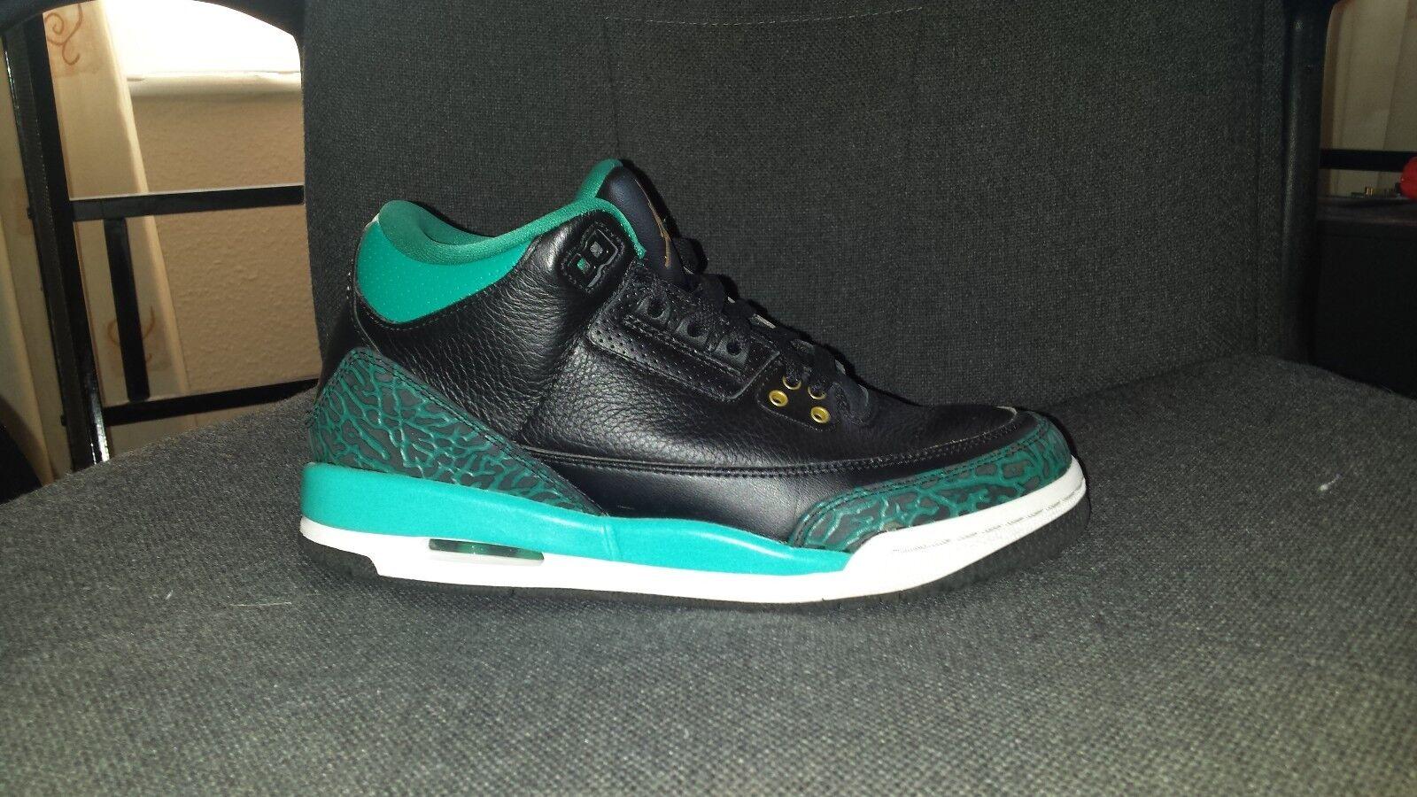 Nike Air Jordan III 3 uk 6 eur 39 RARE RIO Turquoise Immaculée