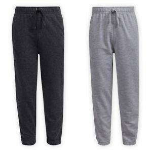 Children's Cotton Jog Pants Girls Boys Comfort Tapered Legs Full Length Bottoms